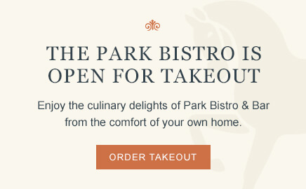 the park bistro is open for takeout